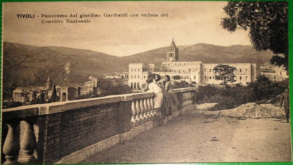 Panorama dal Giardino Garibaldi con veduta del Convitto Nazionale. Anno 1920 circa.