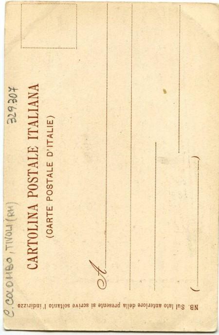 Retro cartolina del gruppo di Cristoforo Colombo, foto Radiciotti.