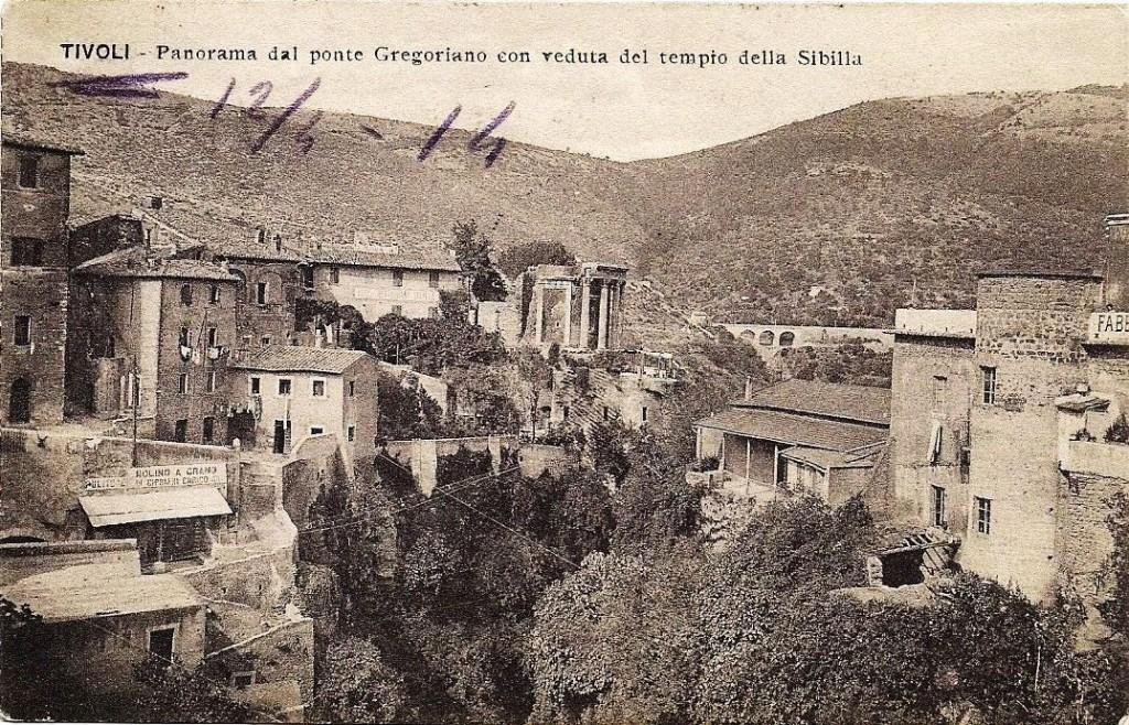 Panorama da Ponte Gregoriano, anno 1914.