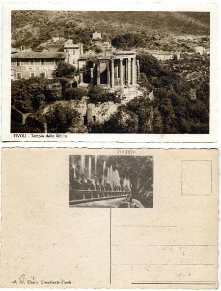 """""""Tivoli Tempio della Sibilla"""" """"ed. ris. Duilio Crocchiante-Tivoli"""" (ante 1940, courtesy Roberto Borgia 2017)"""
