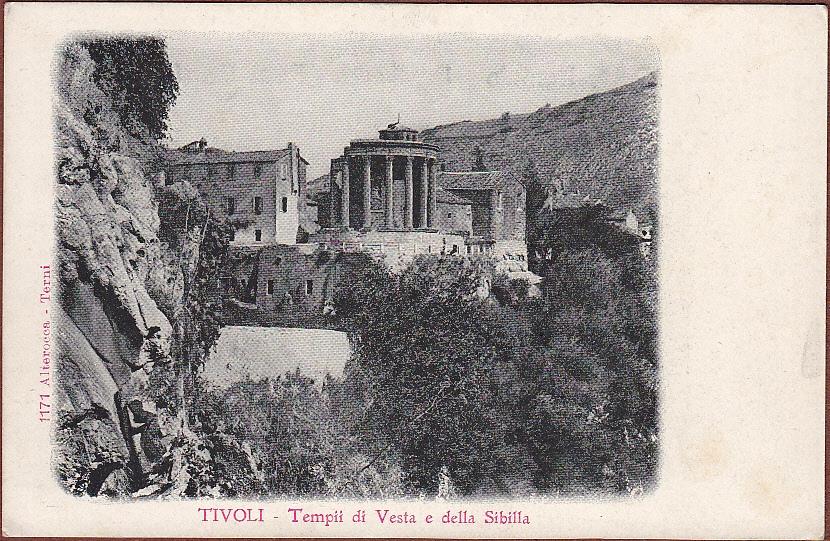 Tempio di Vesta e della Sibilla, ante 1881, prima dell'isolamento.