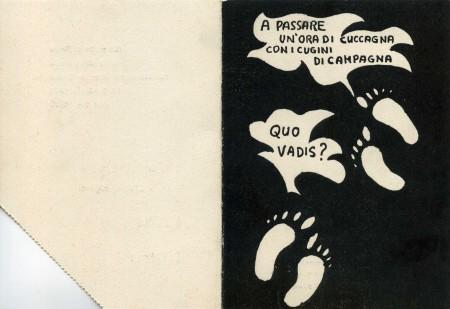 Frontespizio: Ballo delle Magistrali, 1971 (courtesy Sandro Mammi)