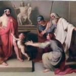 Scuola di Vincenzo Camuccini (1771-1844) Pirro bambino e i suoi salvatori chiedono asilo a Glaucia re dell'Illiria, olio su tela,circa 1850.