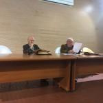 Il relatore prf. Boratto insieme al prof. Vincenzo G. Pacifici