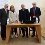 L'ing. Gianni Andrei, la sig.ra Daniela Napoleone Bulgarini, il prof. Franco Sciarretta e il prof. Roberto Borgia