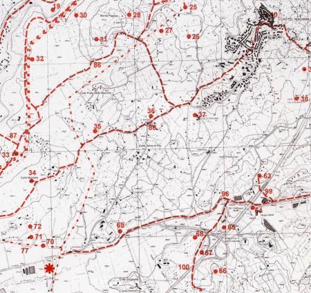Fig. 1. Localizzazione del rinvenimento (rif. Carta Archeologica della Provincia di Roma, 2004, Tav. LXXV)