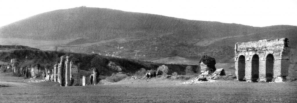 Fig. 2. Arcate e piloni dell'Anio novus (lato Est). Foto Thomas Ashby