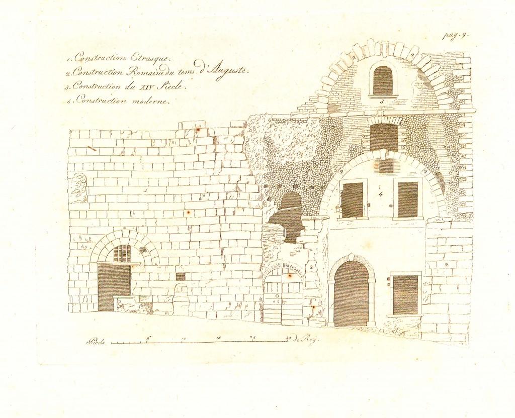 """Fig. 4. """"Mercato coperto"""": disegno di A. Uggeri (1806)"""