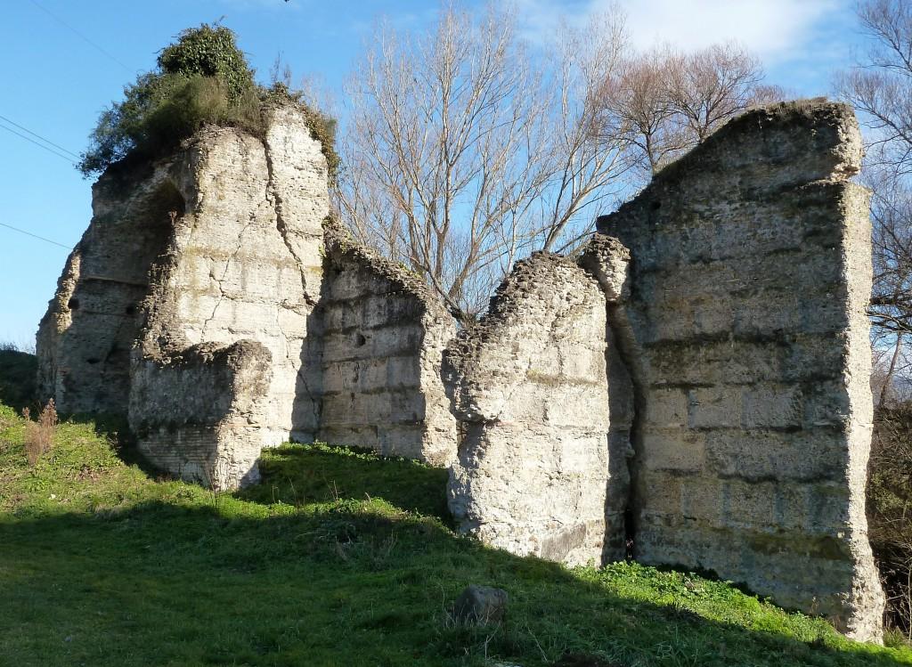 Fig. 7. Resti in opera cementizia dell'Anio novus