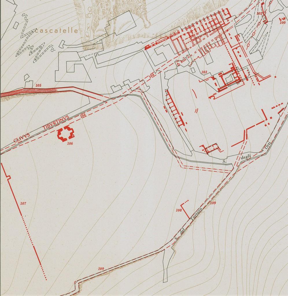Fig. 1. Localizzazione nella Carta archeologica (da C.F. Giuliani, 1970)